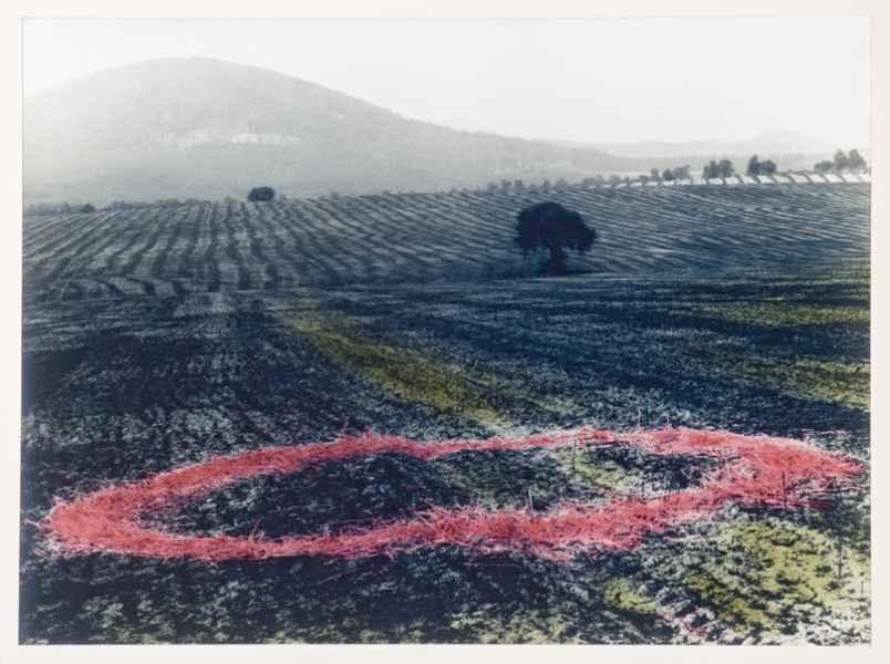 Tájkép kör installációval 1994.